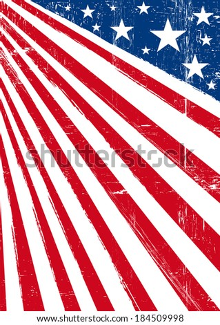 american dream flag. An american background with a frame for you.  - stock vector