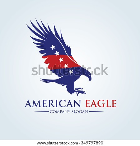 American Eagle Logo. Vector logo template - stock vector