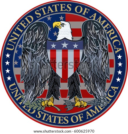 Us Army Symbol Version 2 Carved Stock Photo 56130670