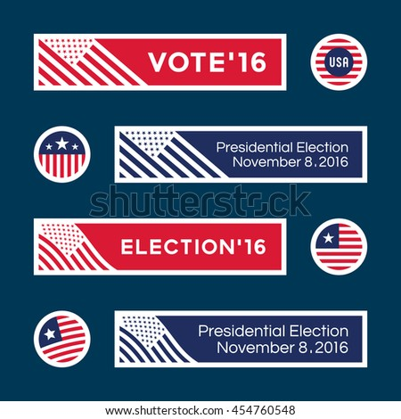 American election badges and vote logo graphics. Presidential Election (1) - stock vector