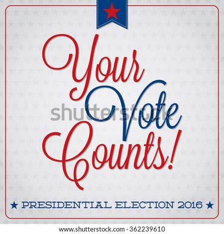 American election typographic card in vector format. - stock vector