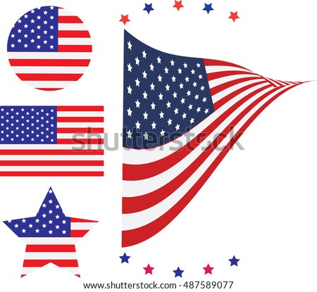 American Flag and design USA