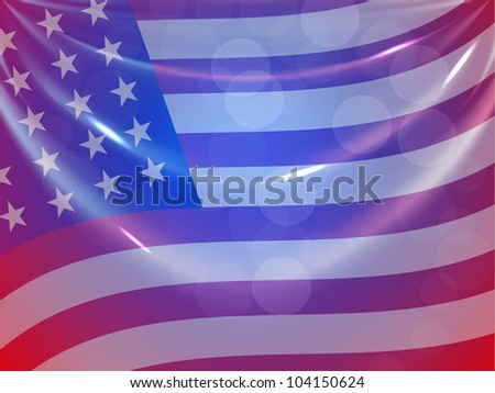 American Flag background for 4th of July American Independence Day and other events or occasions. EPS 10. - stock vector