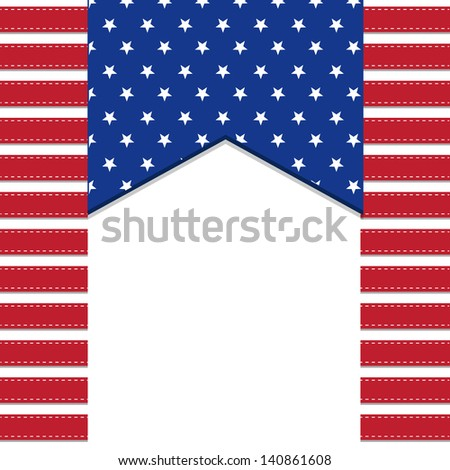 American flag background with stars symbolizing 4th july independence day, illustration in vector format - stock vector