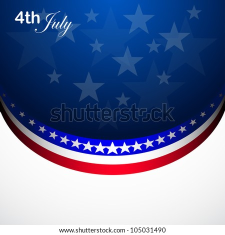 American Flag for Independence Day, vector background - stock vector