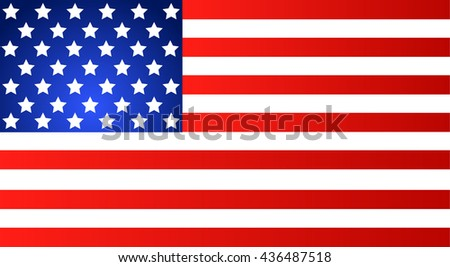American Flag for Independence Day. Vector EPS illustration - stock vector