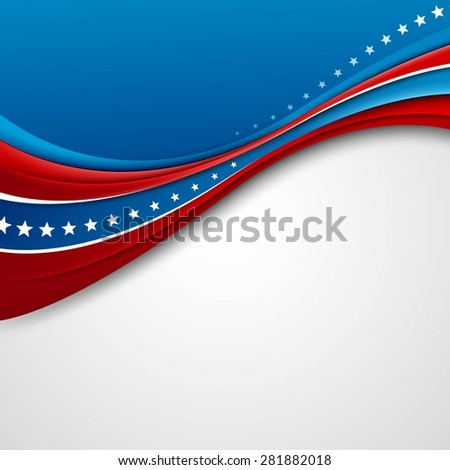 American Flag for Independence Day. Vector illustration. EPS 10 - stock vector