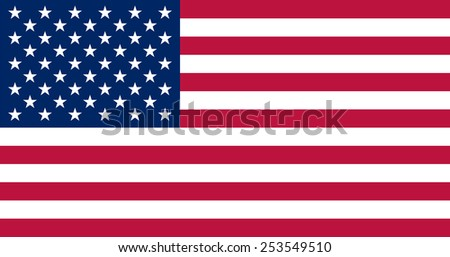 American flag. Government specification - true proportions and colors.  Vector image of United States flag  - stock vector