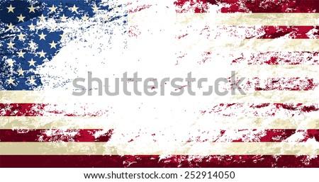 American flag Grunge background. Vector illustration Eps 8. - stock vector