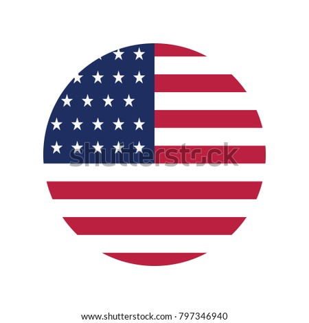 american flag united states circle simple stock vector royalty free rh shutterstock com american flag circle vector US Flag Vector Clip Art