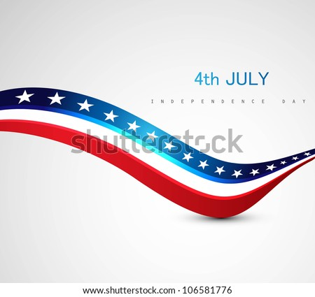 American Flag 4th july american independence day vector