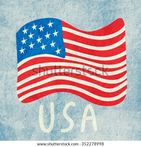 American flag. USA - stock vector
