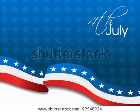 American Flag, Vector background for Independance Day and other events. Illustration in EPS 10. - stock vector