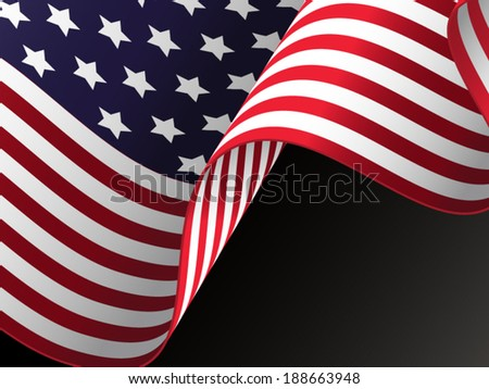 American flag - vector illustration - stock vector