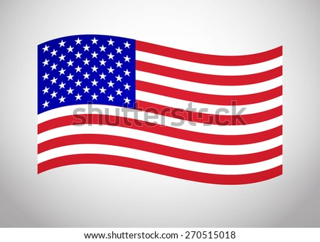 American Flag Vector. Vector Icon Illustration Flag For Your Business Presentations And Fashion Presentation - stock vector