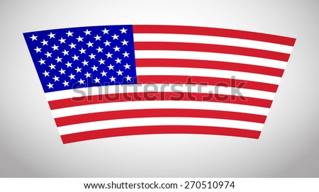 American Flag Vector. Vector Icon Illustration Flag United States of America For Your Business And Fashion Presentation