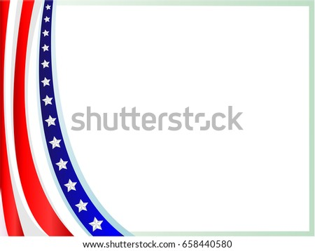 American Flag Wave Frame Empty Space Stock Photo (Photo, Vector ...