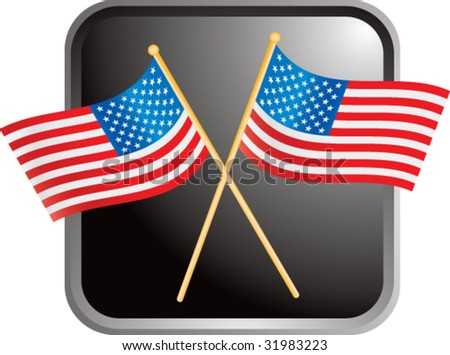 american flags on web button