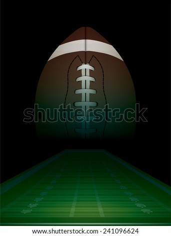 American football and field background illustration. Vector EPS 10. EPS file contains transparencies. - stock vector