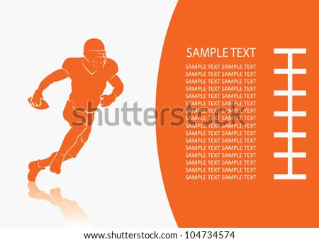 American football background - vector illustration - stock vector