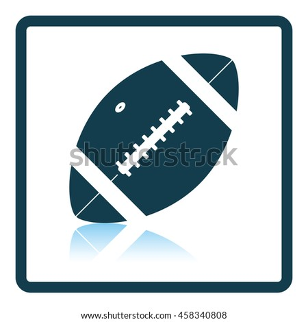 American football ball icon. Shadow reflection design. Vector illustration.