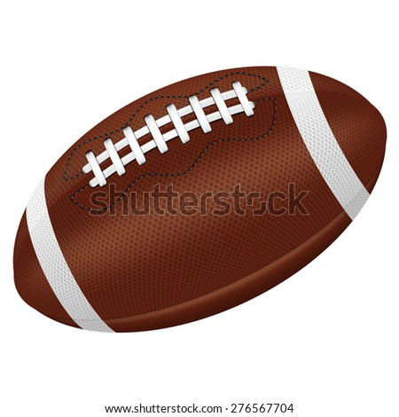 American Football ball. Illustration; rugby ball drawing; Isolated football ball. Vector illustration