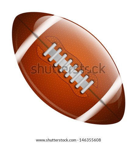 American football ball isolated on white background - stock vector