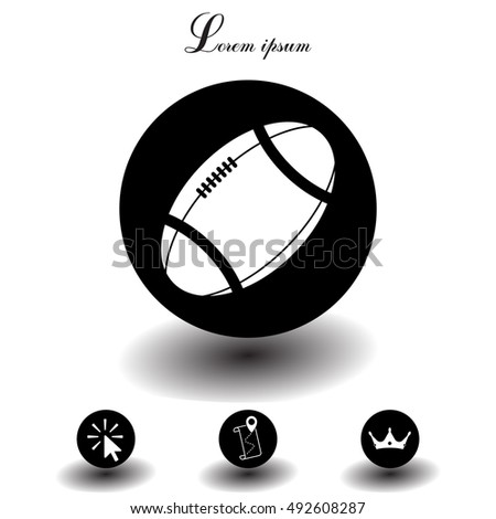American football ball vector icon.