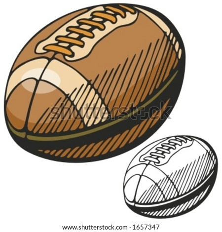 American football ball. Vector illustration - stock vector
