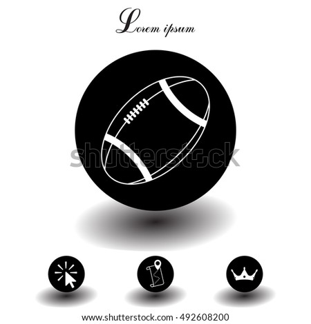 American football ball vector line icon.