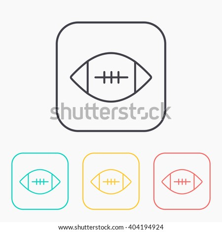 american football color icon set