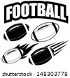 American football design elements. EPS 10 vector, grouped for easy editing. No open shapes or paths. - stock