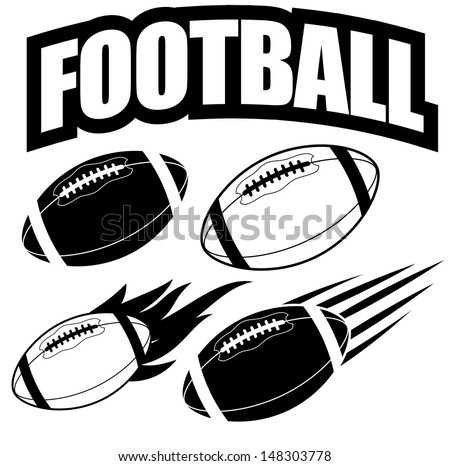 American football design elements. EPS 10 vector, grouped for easy editing. No open shapes or paths. - stock vector