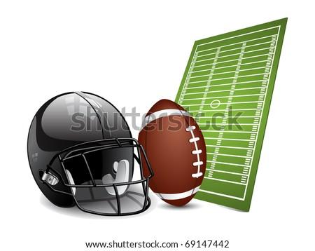 American football design elements. Vector - stock vector