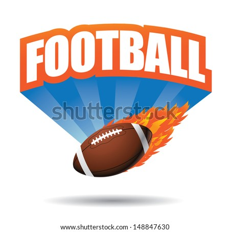 American football design. EPS 10 vector, grouped for easy editing. No open shapes or paths.