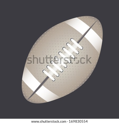 american football design over gray  background vector illustration