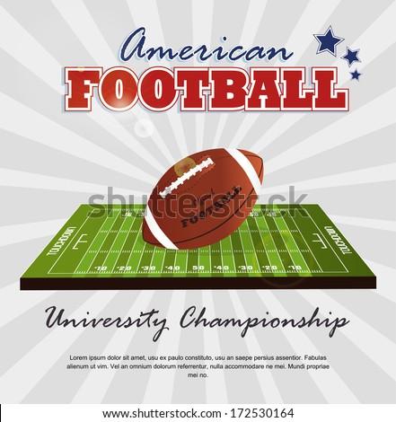 american football design over gray  background vector illustration  - stock vector