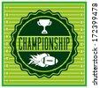 american football design over green   background vector illustration  - stock