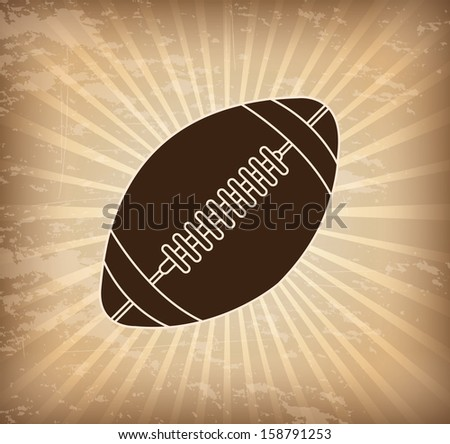 american football design over grunge background vector illustration