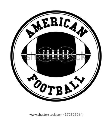 american football design over white  background vector illustration