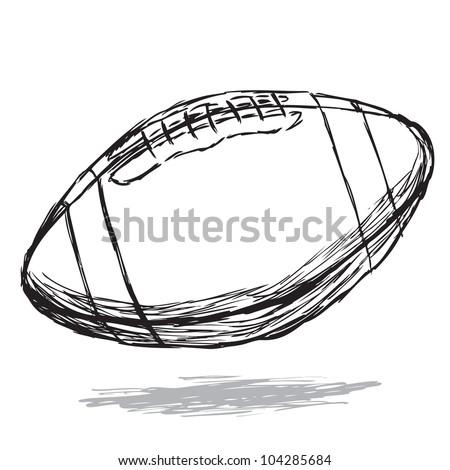 American football doodle - stock vector