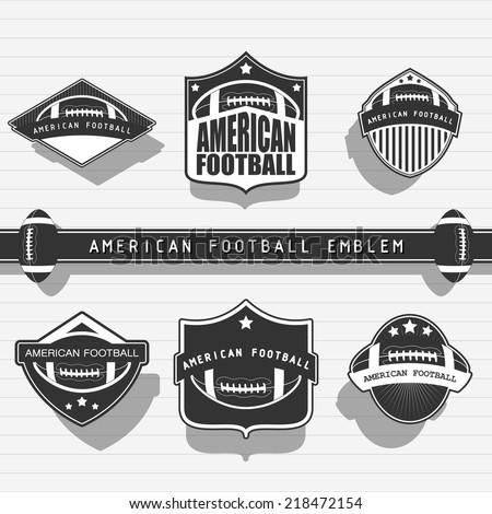American football emblems - stock vector
