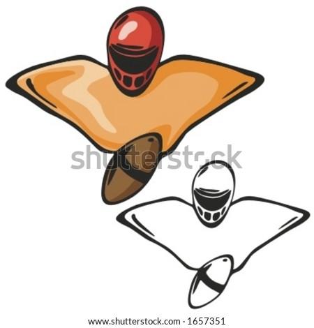 American football equipment. Vector illustration - stock vector