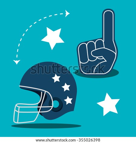 American football game sport, vector illustration graphic design