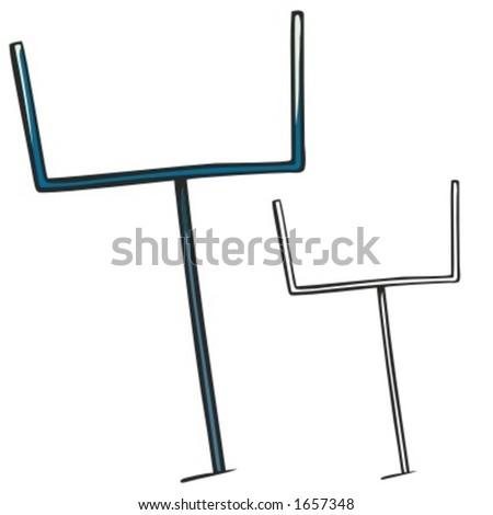 American football goal post. Vector illustration - stock vector