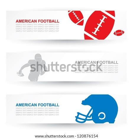 American football headers - vector illustration - stock vector