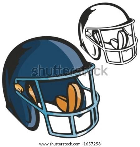 American football helmet. Vector illustration - stock vector