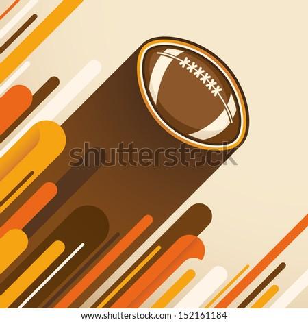 American football illustration. Vector illustration. - stock vector