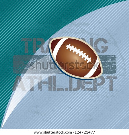 American football on blue background vector illustration