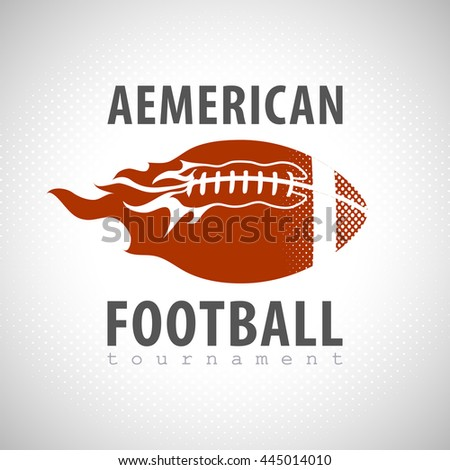 American football  on fire tournament poster